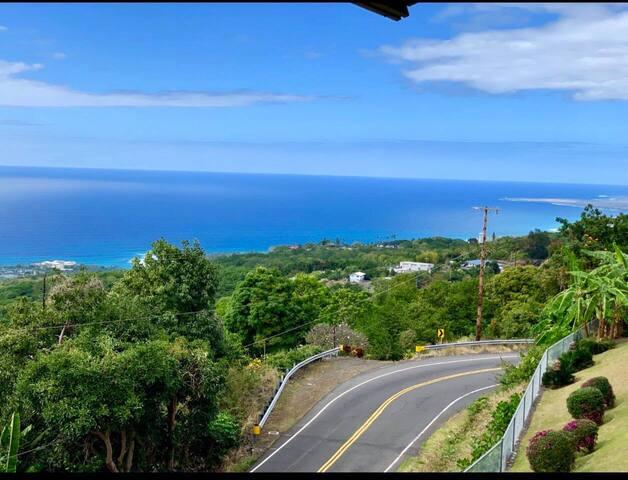Kona Coffee Villas- 2 bd 2bath condo-Ocean view!