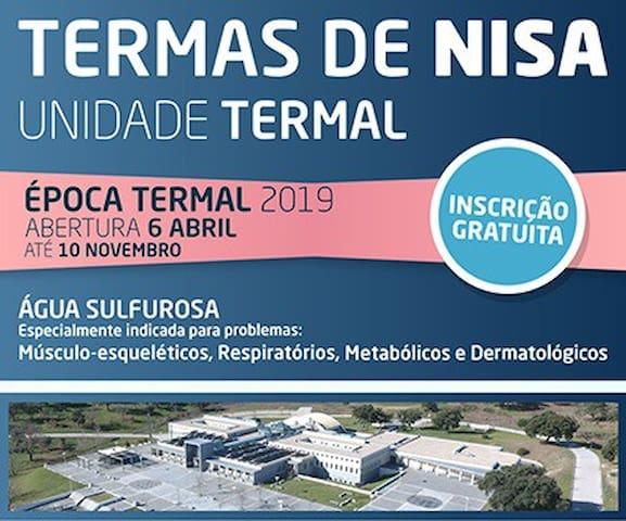 Termas de Nisa a 9min (6km) / Thermal waters at 9min (6km) distance