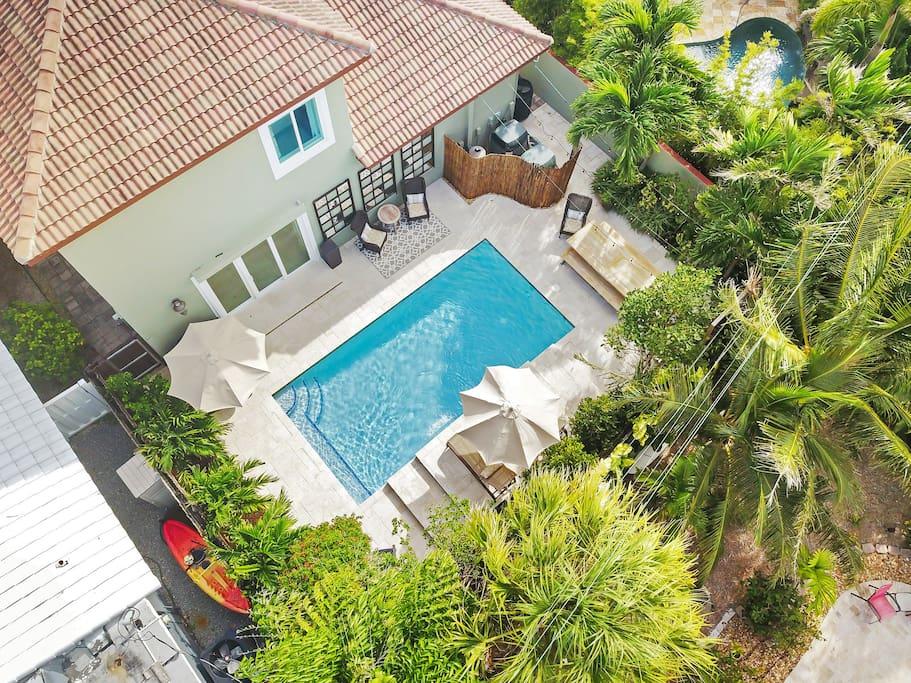 Swim, lounge, dine & relax