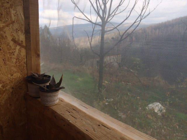 Vista da casa de banho compostada... View from compost toilet...