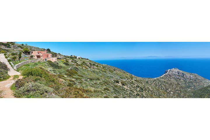 The Terracotta House with the Unique Aegean View! - Kéa - Villa