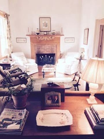 Living Room tastefully furnished with antiques