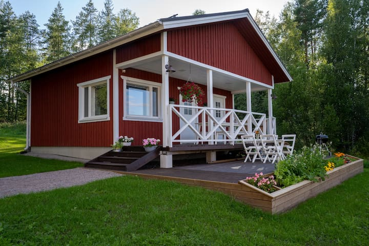 Modern traditional sauna cabin