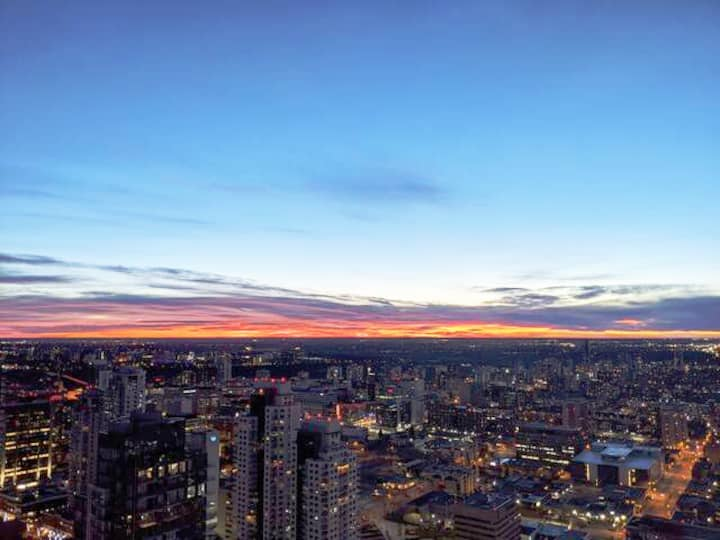 32nd Floor View of Downtown Edmonton