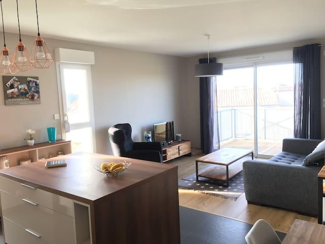 Appartement cozy avec balcon - Le Château-d'Olonne - Apartamento