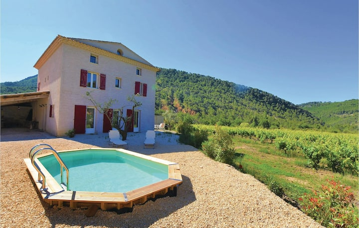 Awesome home in Propiac Les Bains with 4 Bedrooms