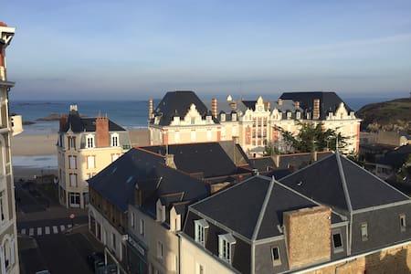 Nice duplex of 90m2, by the beach, sea views - Saint-Lunaire