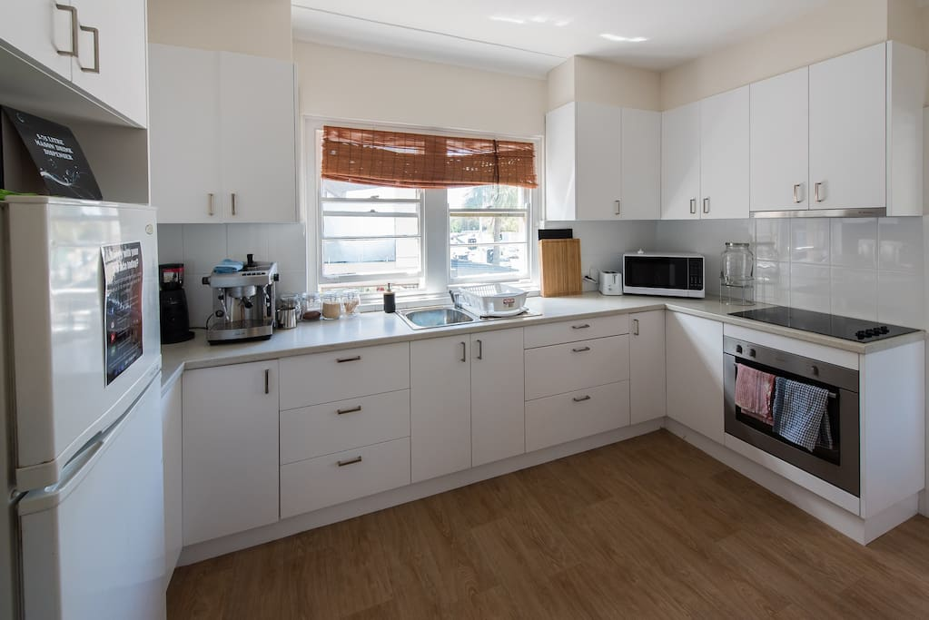 Full kitchen facilities including coffee machine