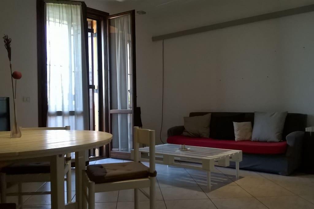 Ampio appartamento a Cadelbosco di Sotto solo 25 km da Reggio nell Emili,comodo a tutti servizi.L'alloggio e composoto dal soggiorno con la cucina,due camere matrimonialli,due balconi, bagno con la doccia.