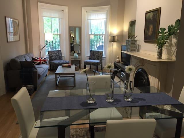 Elegant, Historic, sleek Brownstone renovation
