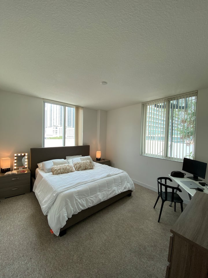 Private room & common space at Brickell