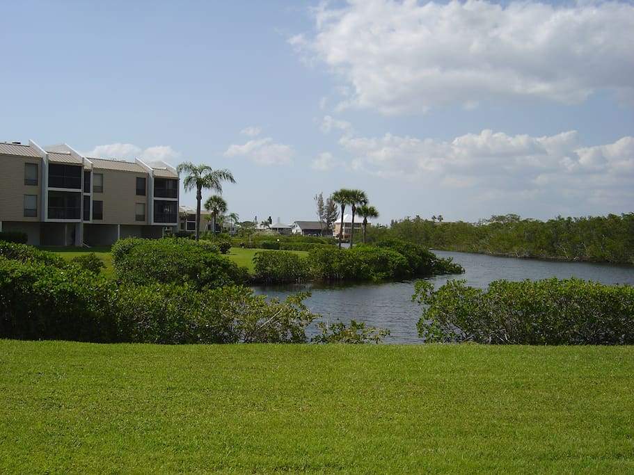 Lovely condo overlooking lagoon condominiums for rent in for Fish house fort myers beach