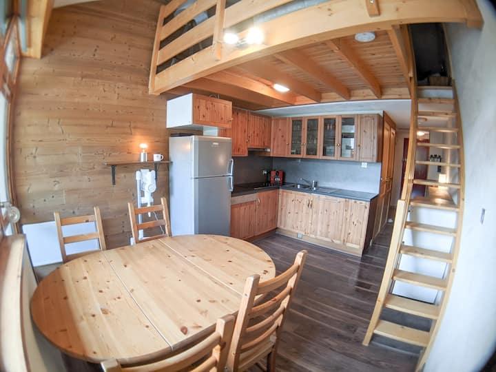 #Duplex 6 pers, Garage privé, ski aux pieds