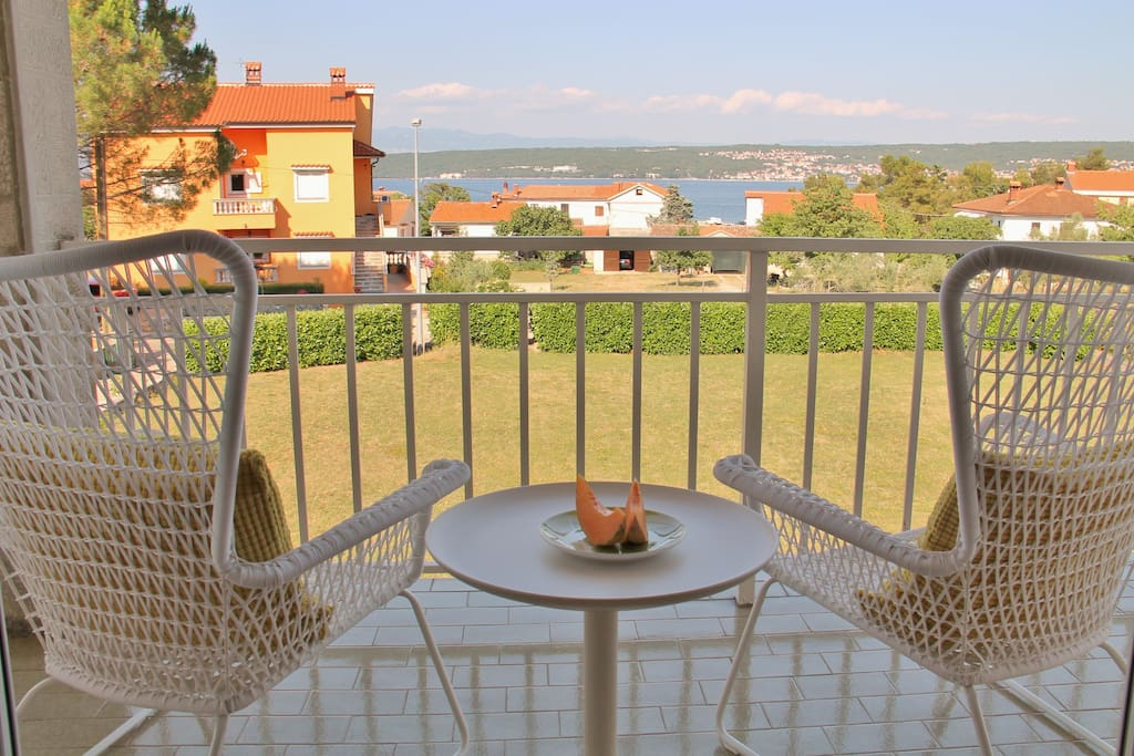 BALCONY with a sea view - Great place to relax and meditate in the comfortable chairs overlooking the sea