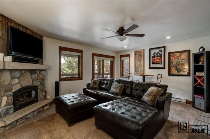 Living room and large couch