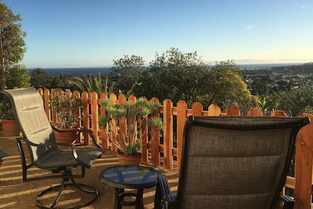 Beautiful, tranquil private studio with ocean view - Santa Barbara - Haus