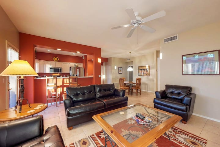 First floor condo with shared pools and hot tub! Dogs ok.