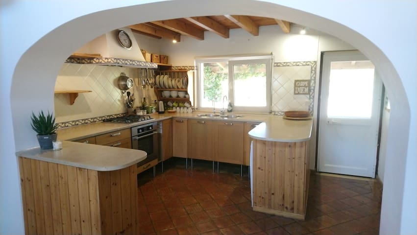 Inside kitchen