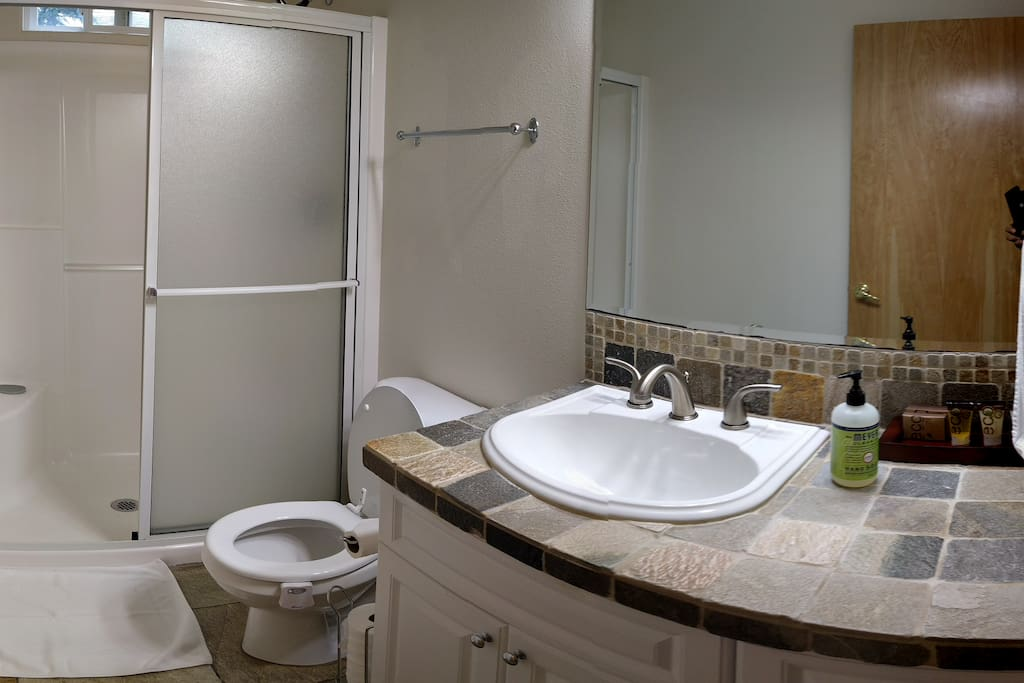 Two Bathrooms Are Available