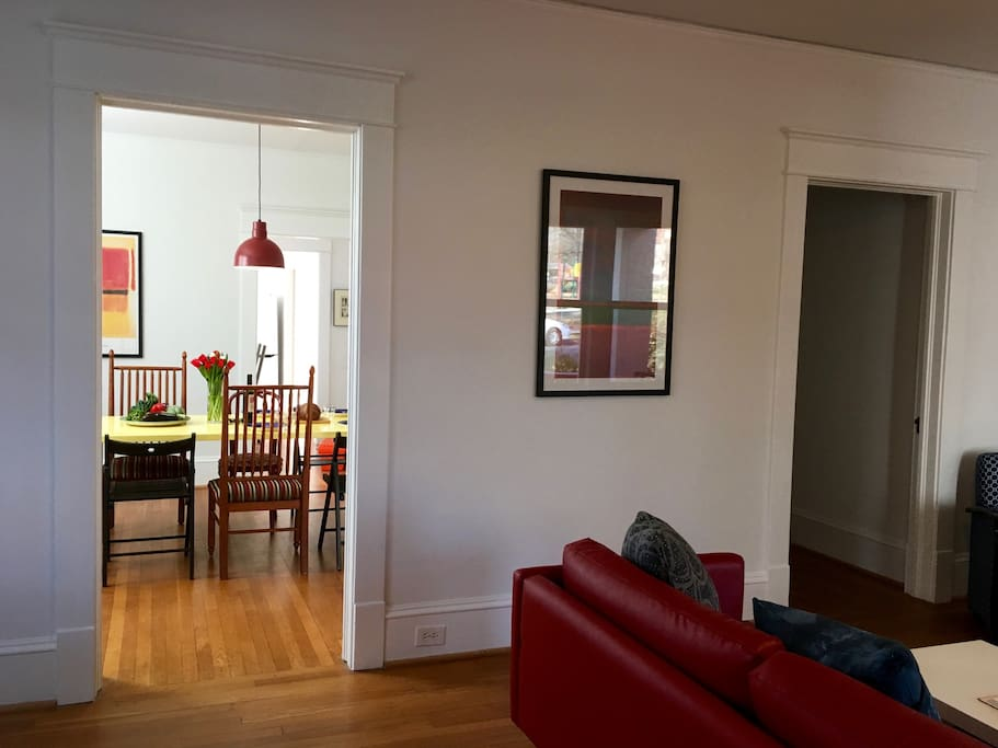 Living room, looking into the dining room