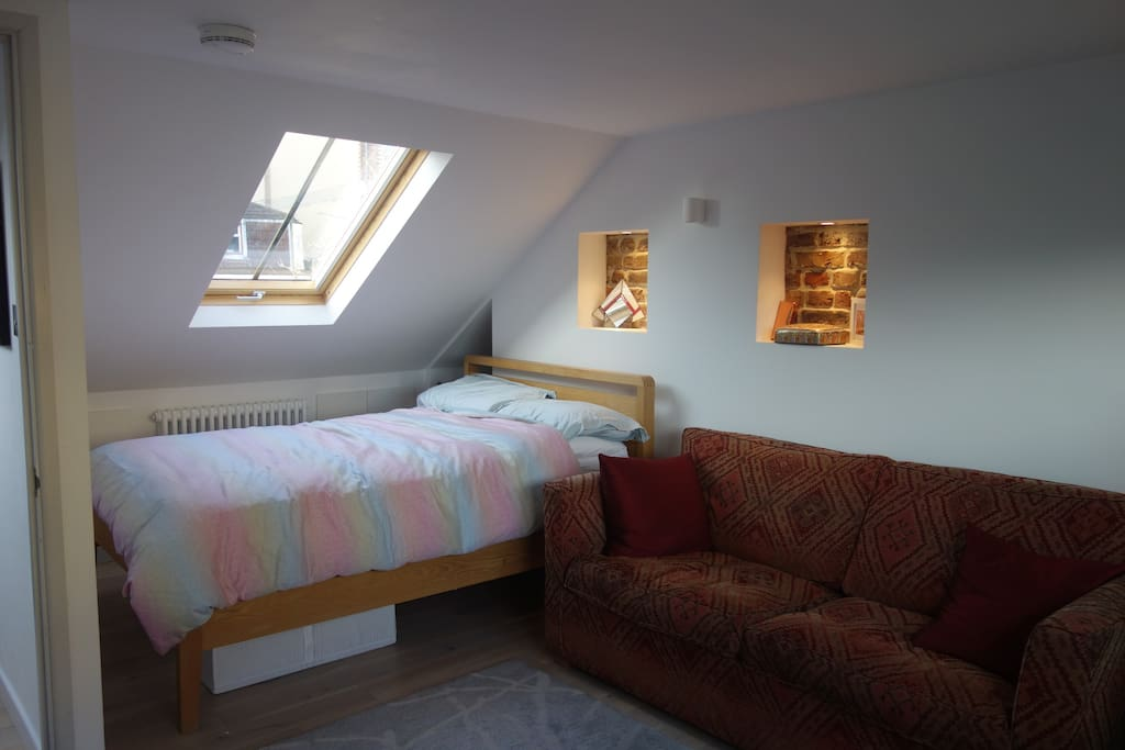 Loft room, lots of light with double sofa bed if required
