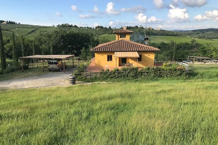 House in the Chianti vineyards