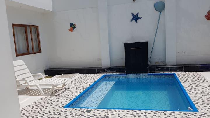 Linda Casa de playa en Pulpos/Piscina/1erPiso.