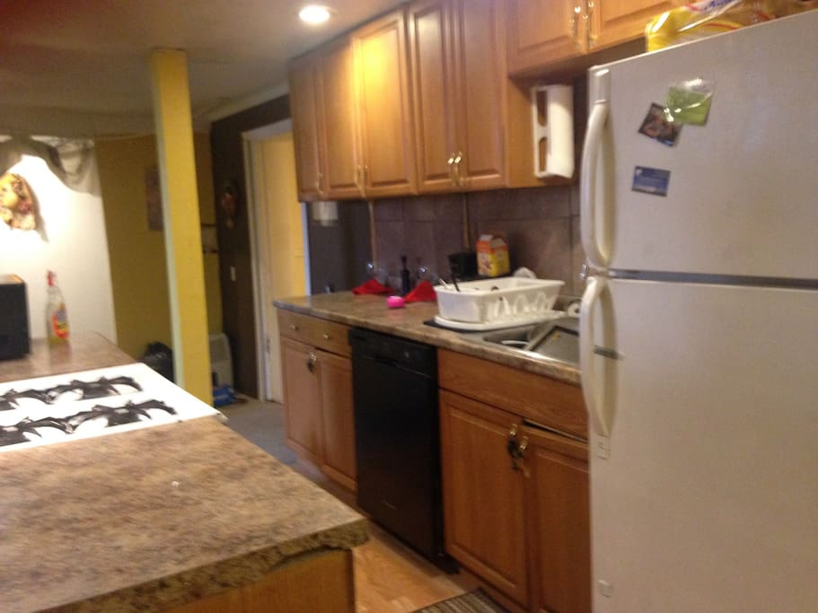 Another view of kitchen.  All dishes, pots, pans, etc are included with the rental.  Also coffee pot, microwave, and toaster