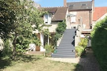 logement en haut : emprunter les escaliers