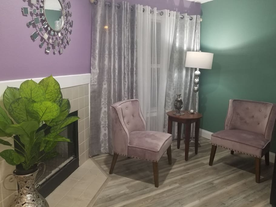 Sitting area in living room