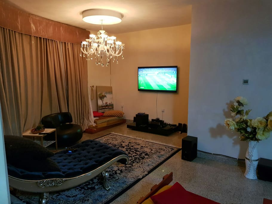Private lounge with play station gaming area