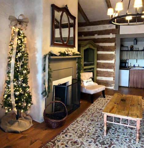 Throughout the month of December at Legacy Ranch,  you & your guests will enjoy the magic of Christmas in the Dr. Okerholm Loghaus where each and every room has been decorated just for you!