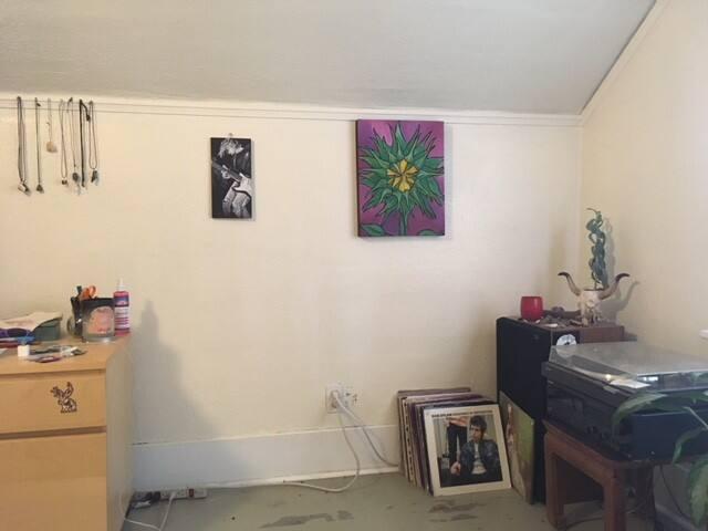 Bedroom art.