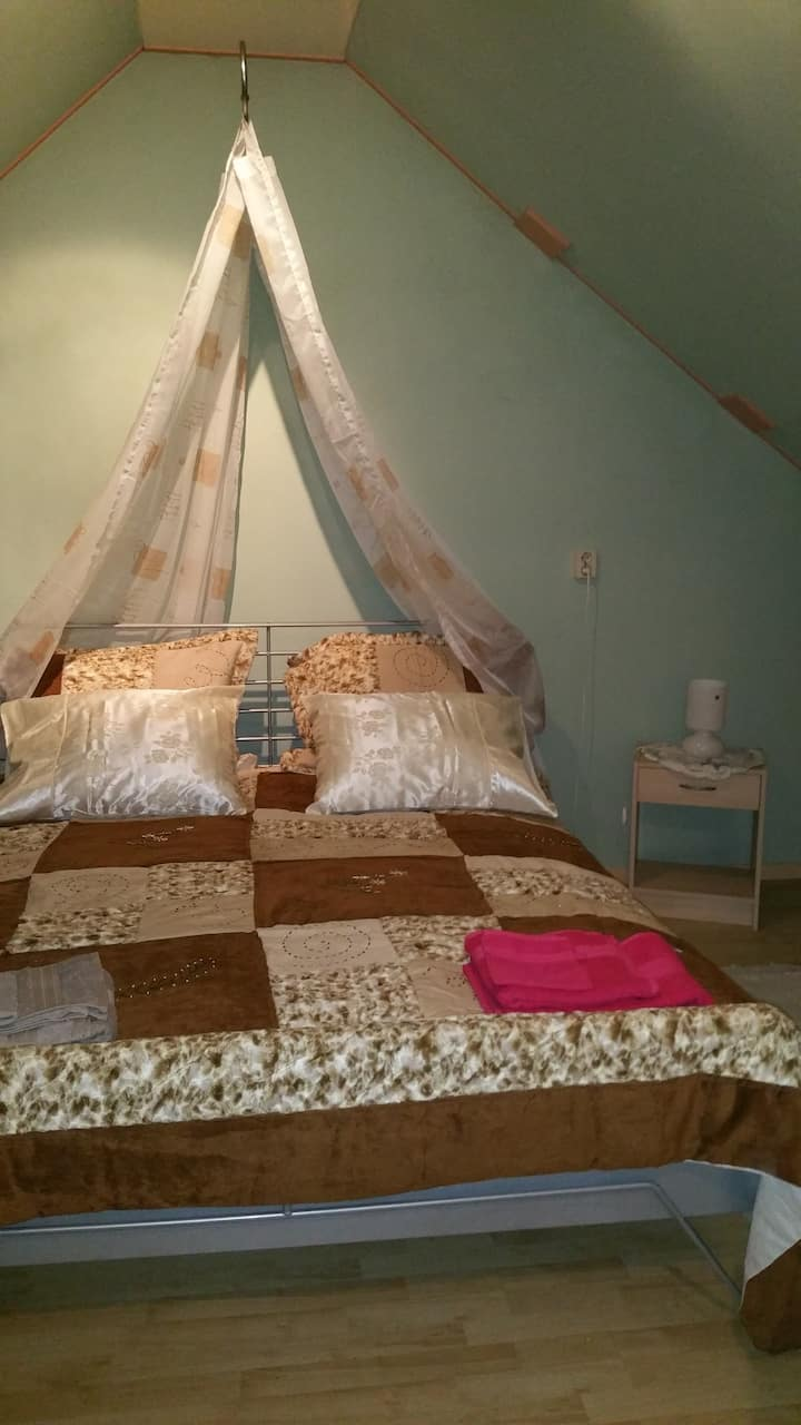 Attic room with doublebed available