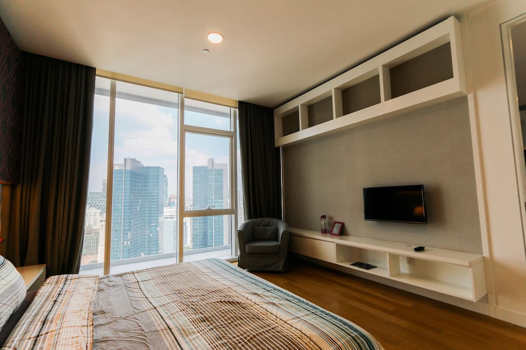 TV inside master bedroom for you to enjoy some dramas before bed