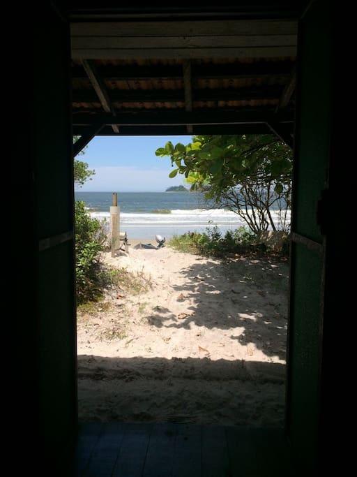 Praia vista da casa