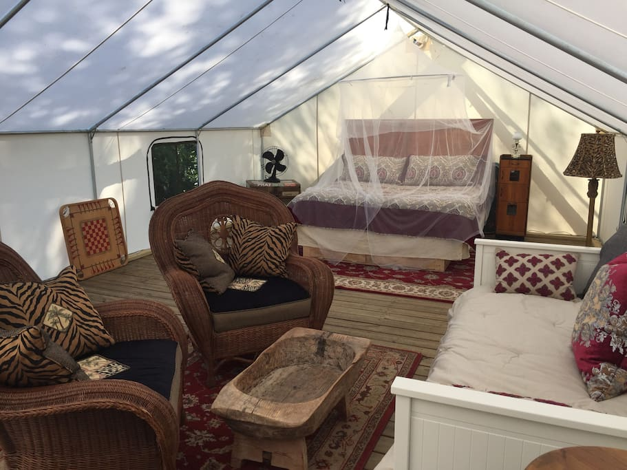 500 Square Feet of space inside the Luxury Tent