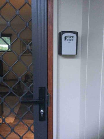 Key safe next to front door