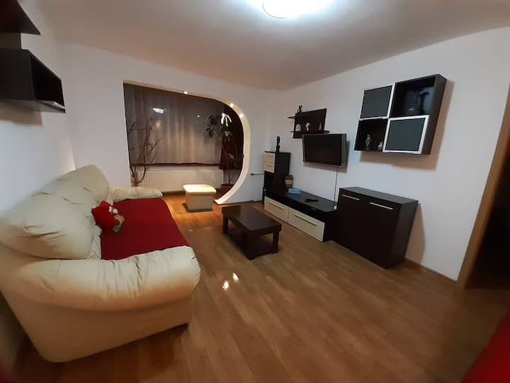 Corina's comfortable apartment