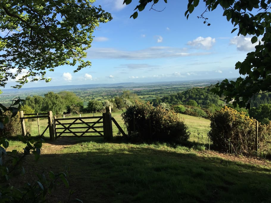 From the top of the hill - view to River Severn and Cotswolds