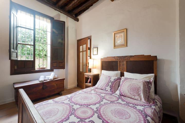 Habitación con baño privado y patio en Albaizín