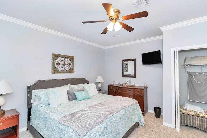 Spacious bedroom with King size bed