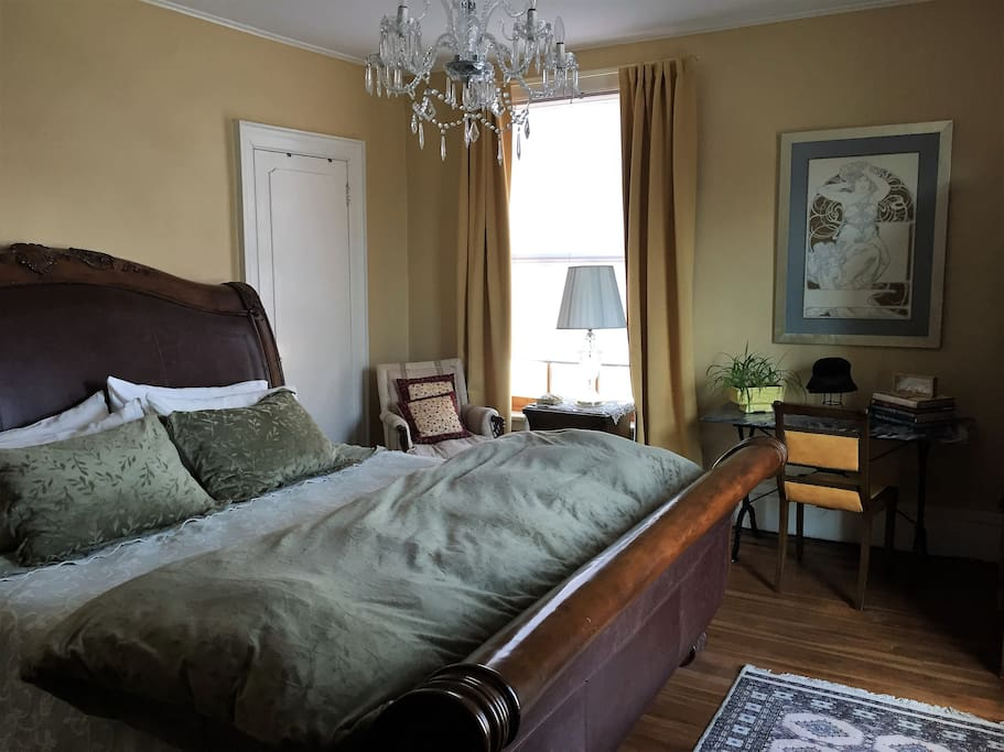 large room with king size sleigh bed