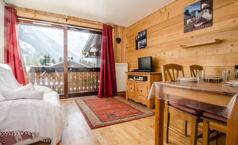 Cosy apartment located in les Pras - very nice view of Mont-Blanc