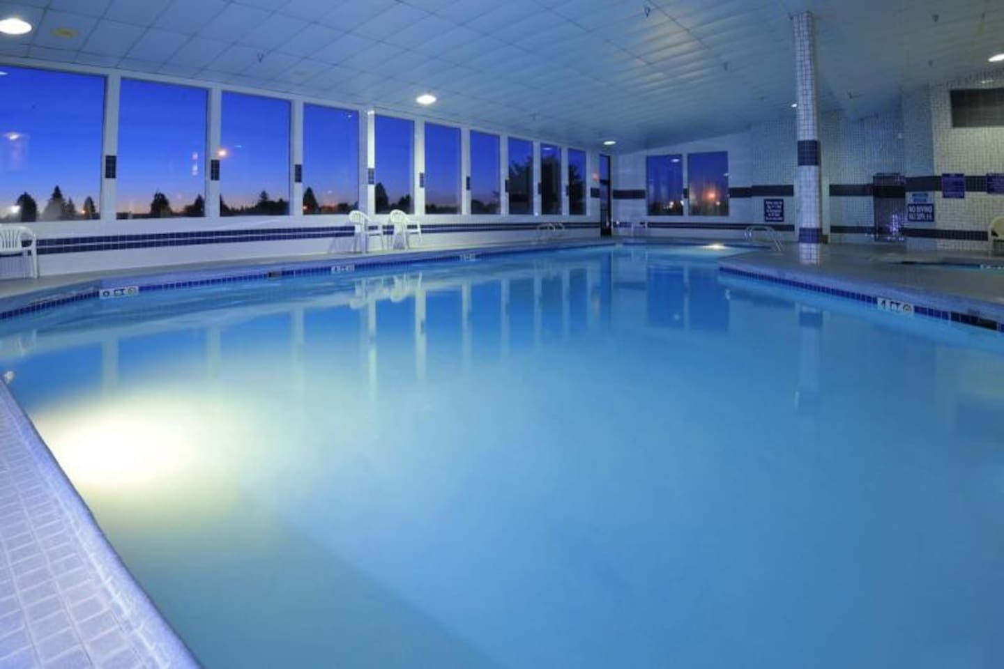 There is a swimming pool, and it is heated!