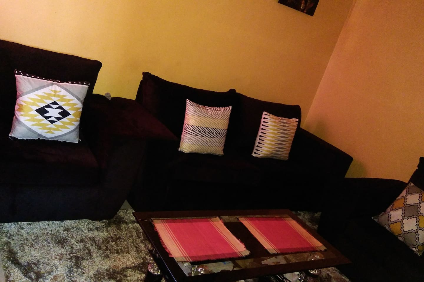 The cosy and homely sitting room.
