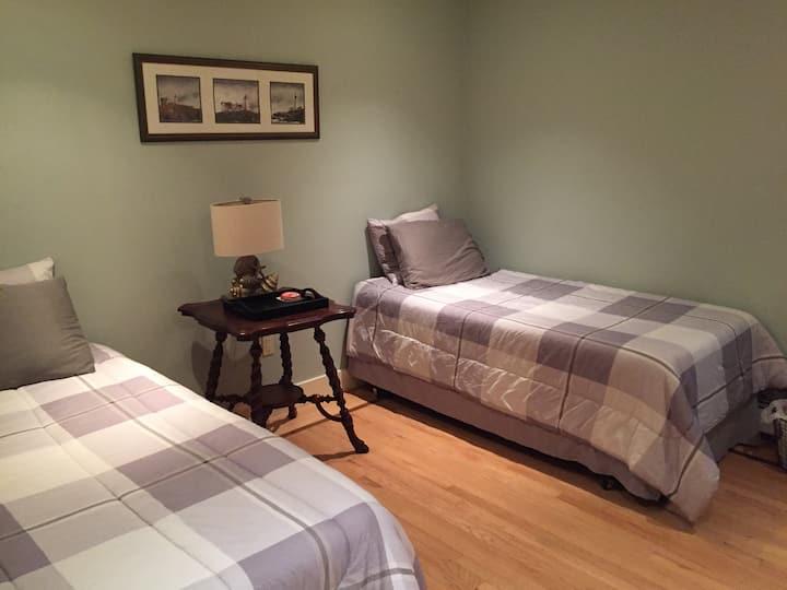East Hampton Home Pocket Door Room
