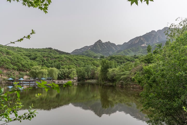 泰山脚下山景水景房
