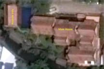 The private family compound (from Google Earth)