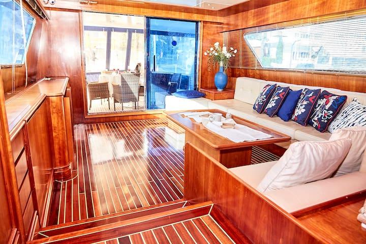 Luxury yacht on Bosphorus